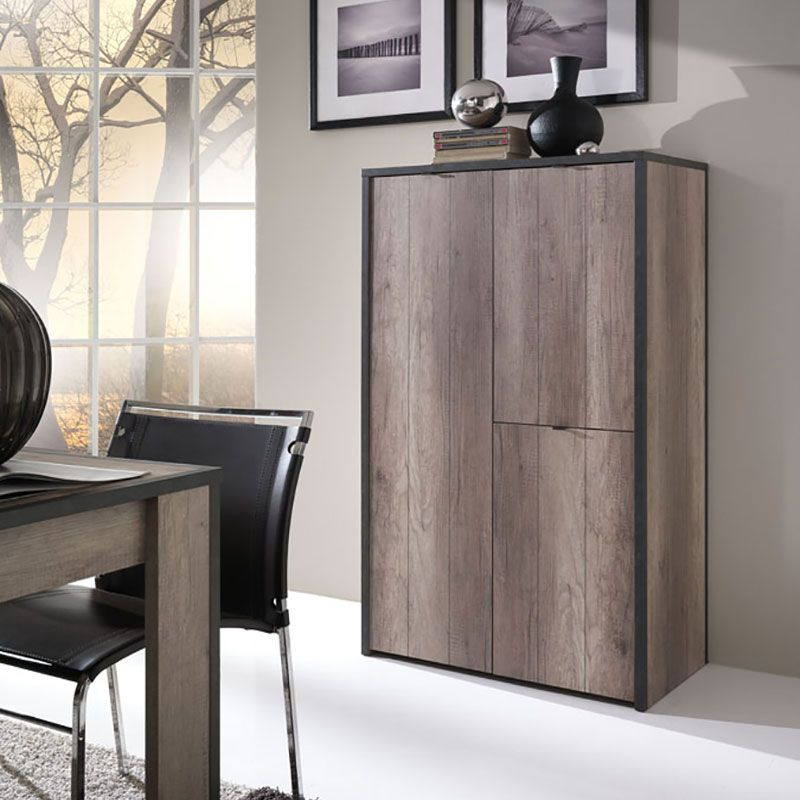 buffet haut couleur ch ne gris moderne laponie buffet. Black Bedroom Furniture Sets. Home Design Ideas