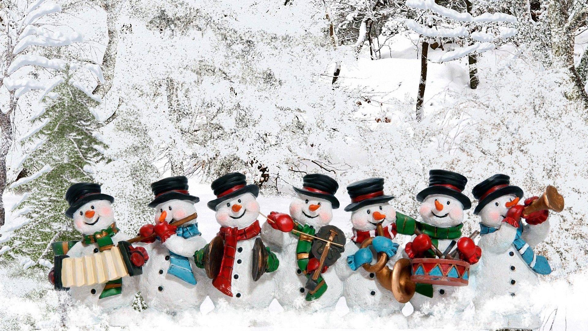 Snowman Wallpaper Winter Wallpaper Snowman