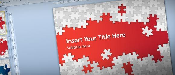 Download Free Puzzle Pieces PowerPoint Template for Presentations - puzzle piece template