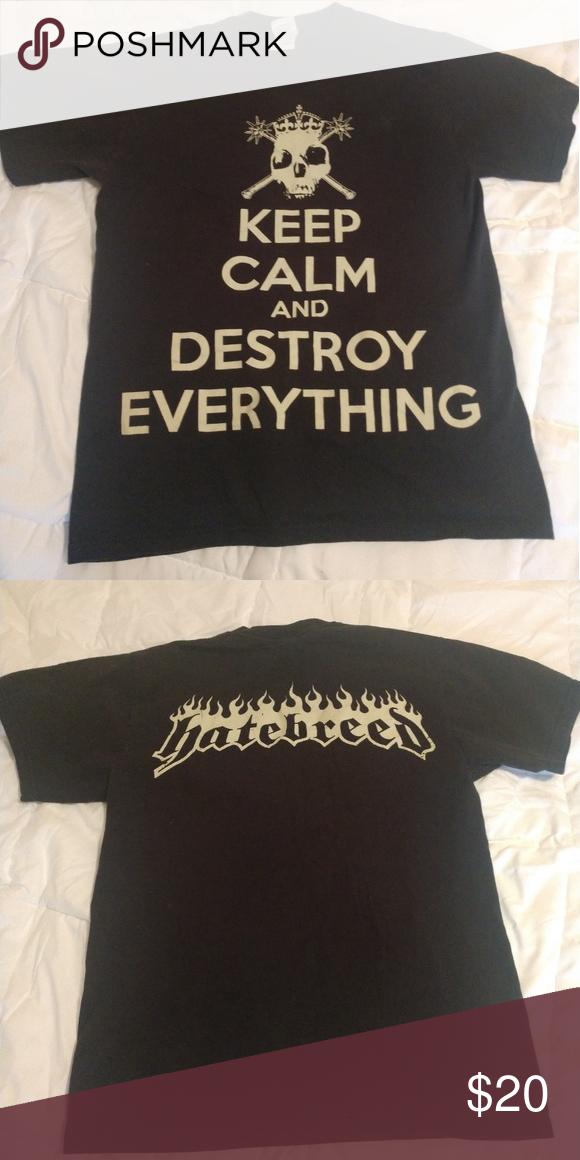 Hatebreed Logo T Shirt Girls Short Sleeve Pullover Stylish Teenager T Shirts