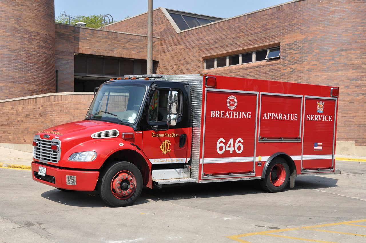 Chicago il fire department breathing apparatus service 646 freightliner m2 lopro