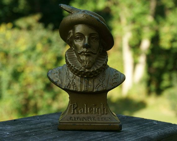 Rare Raleigh Cigarettes Bust Advertising Figure Etsy Statue
