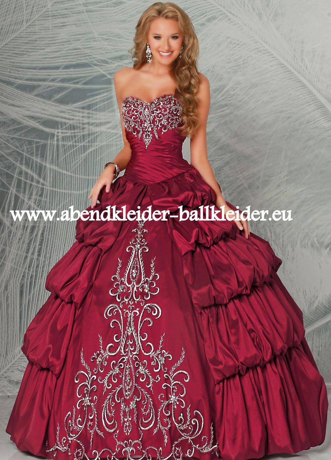 cinderella abend ballkleid brautkleid online in weinrot. Black Bedroom Furniture Sets. Home Design Ideas