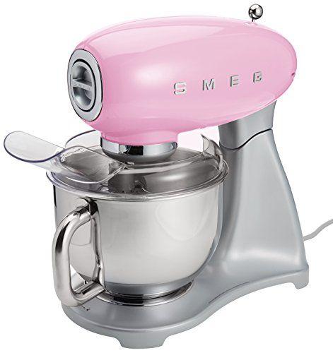 smeg smf01pkus stand mixer pink smeg pink kitchen. Black Bedroom Furniture Sets. Home Design Ideas