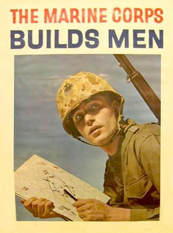Vintage Sunday Marine Corps Builds Men Marine Corps Military Poster United States Marine Corps