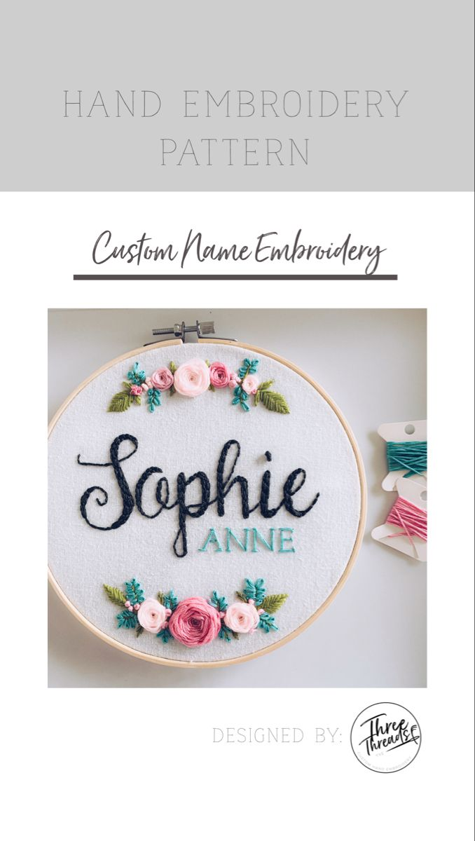 Custom hand embroidery pattern #embroidery #handembroiderypatterns #custompattern #embroiderykit