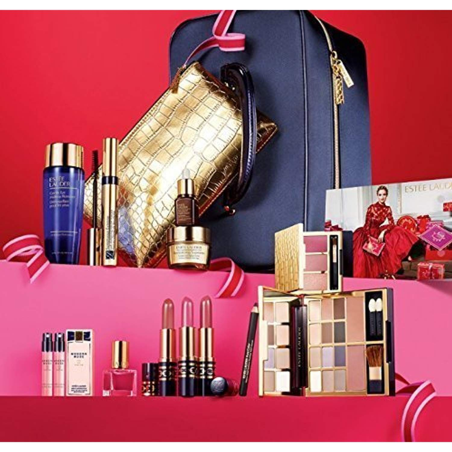 Estee Lauder 2014 Blockbuster Luxe Color New Limited Edition Makeup Skincare Gift Set Be Sure To Che Skincare Gift Set Perfect Christmas Gifts Estee Lauder