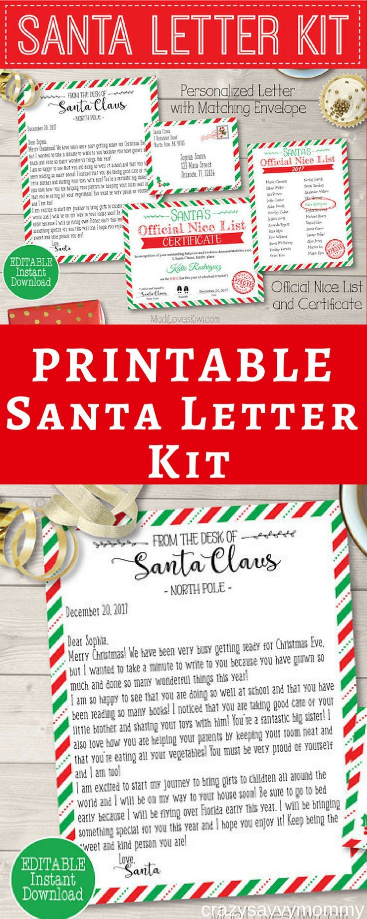 Only  This Printable Santa Letter Kit Makes It Easy To Give Your