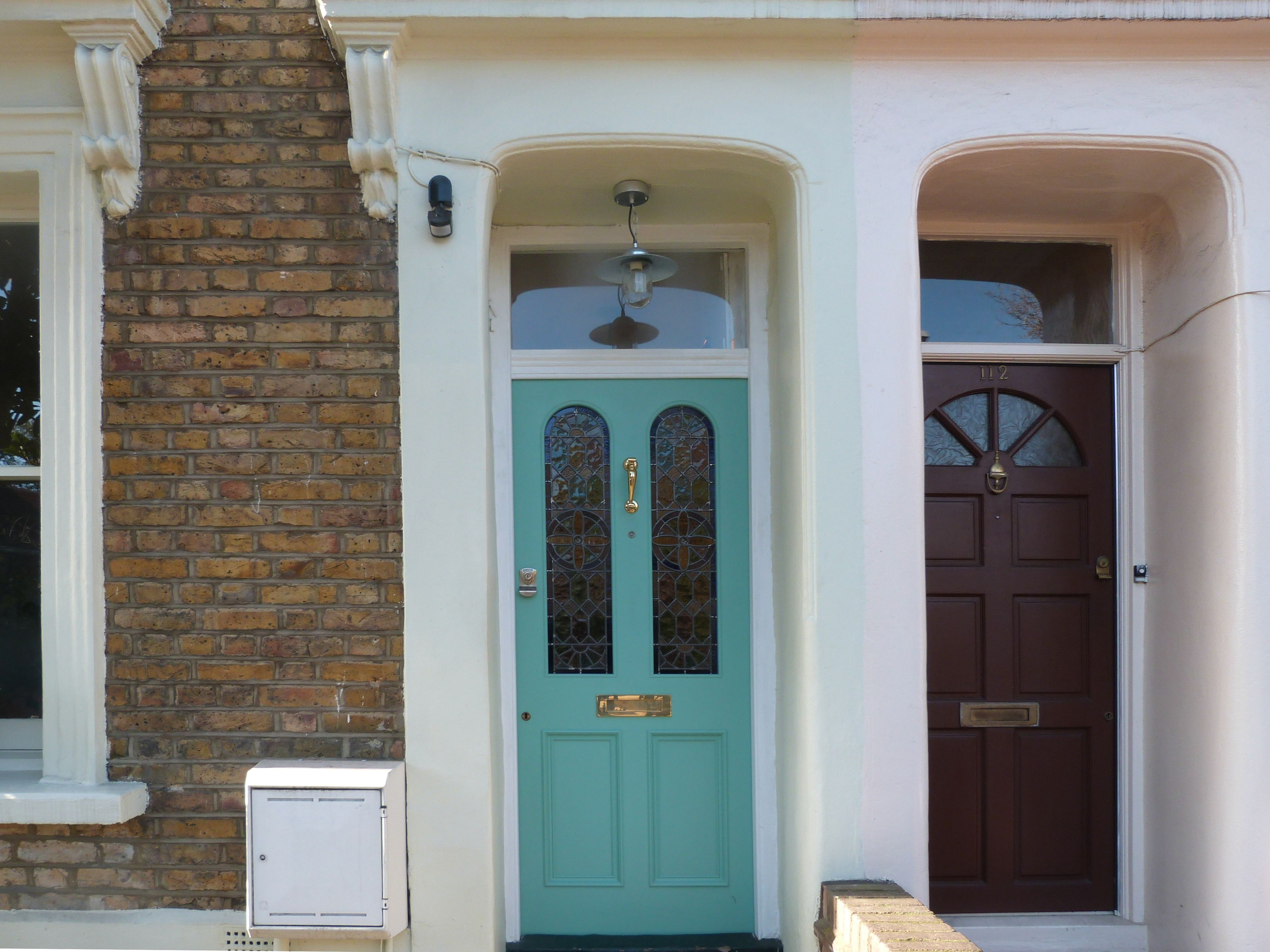 A Victorian front door with leaded light in London | Victorian front ...