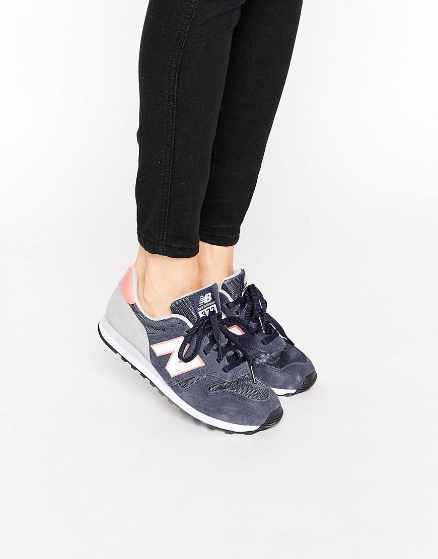 Image 1 of New Balance 373 Navy And Pink Trainers
