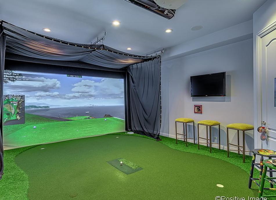 Golf Simulator Room Game Room Pinterest Golf