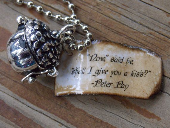 Once Upon A Time Peter Pan Kiss Necklace By Shellybelly4evr