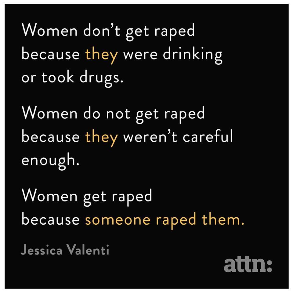 Rape is NEVER the victim's fault.