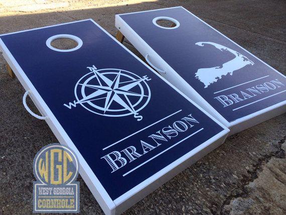 nautical and state cornhole board sets by wgcornhole on etsy - Corn Hole Sets