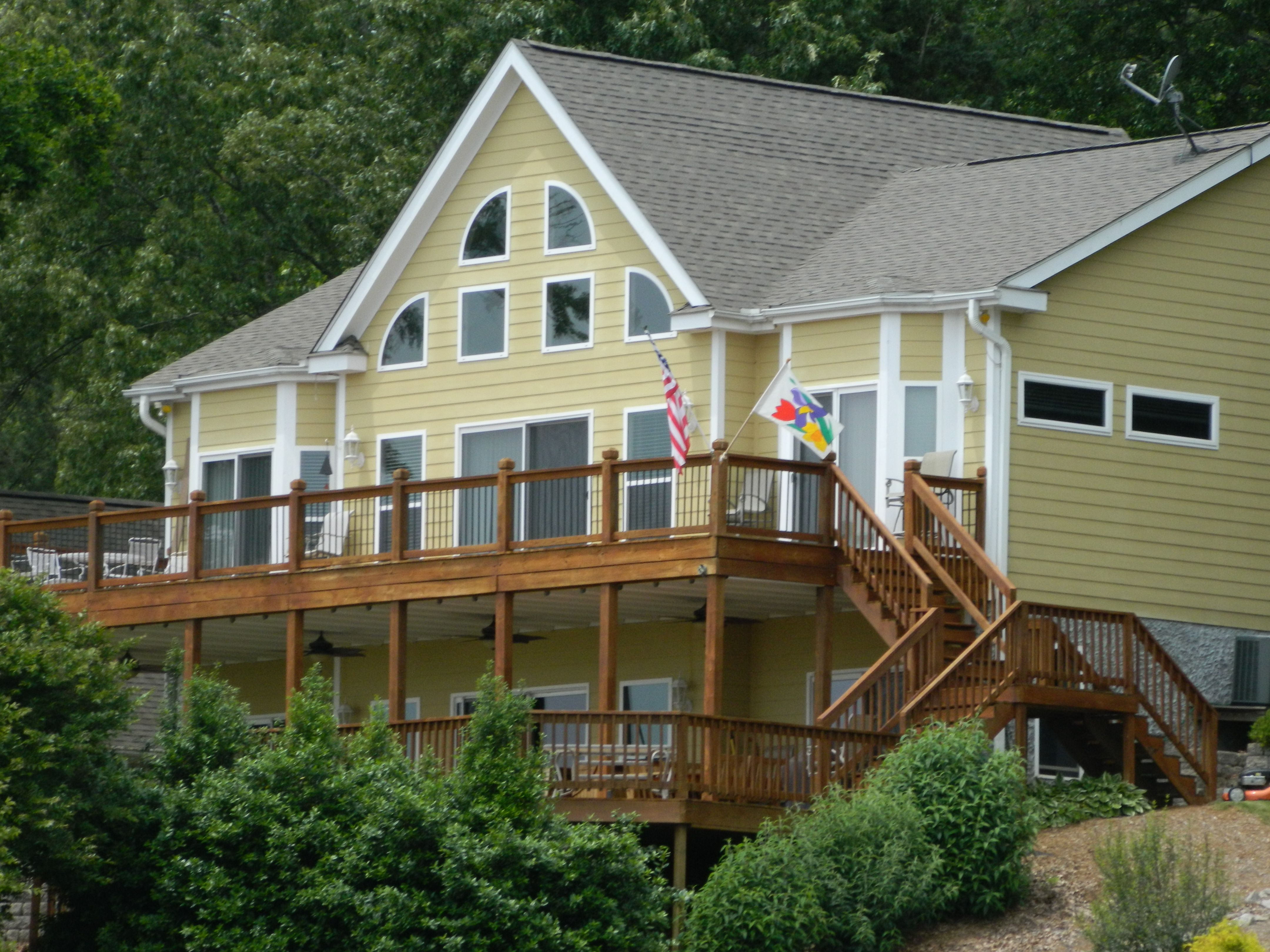 Decks Docks Renew Crew Of Lake Gaston Kerr Lake And The Surrounding Communities House House Styles Log Homes