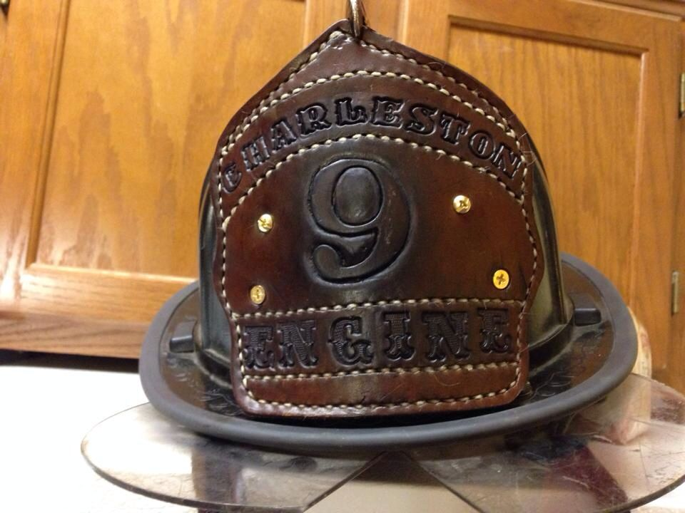 Leather shields for fire helmets