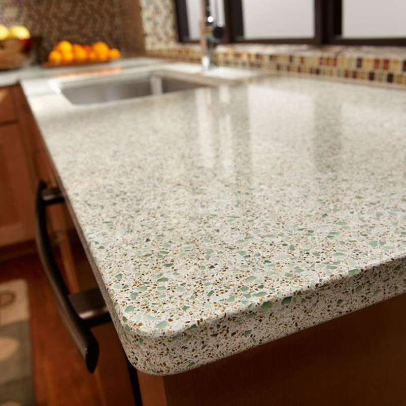 These Recycled Glass Countertops Will Be In Our Kitchen One Day Must Find The Right Colou Recycled Countertops Kitchen Countertops