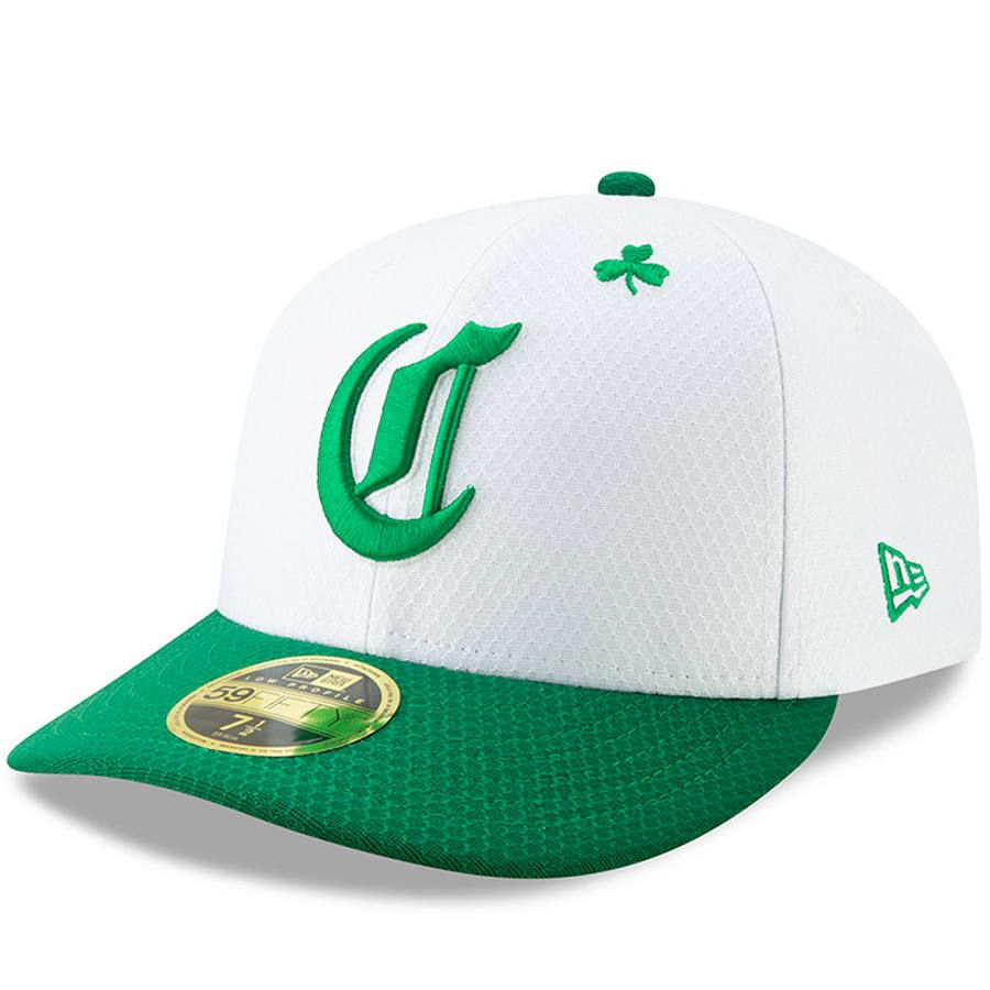 super popular 97920 7fd60 Men s Cincinnati Reds New Era White Kelly Green 2019 St. Patrick s Day  On-Field Low Profile 59FIFTY Fitted Hat,  39.99