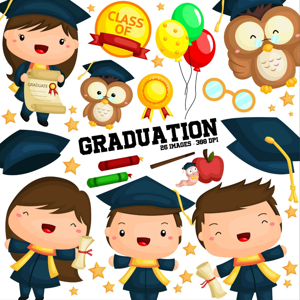 Student And Graduation Clipart School And University Clip Etsy Free Clip Art Graduation Clip Art Clip Art