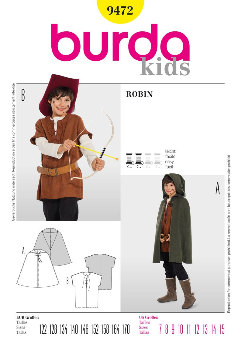 Simplicity Creative Group - Burda Style Robin | Medieval clothing ...