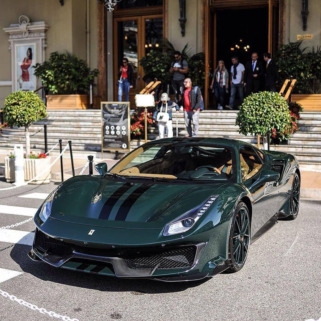 Ferraricar Lover S Instagram Post British Racing Green 488 Pista Ferrarifriday British Racing Green Ferrari Racing Green