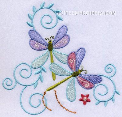 Dragonfly Embroidery Pattern Bk25 Advancedmassagebysara