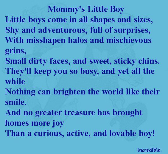 Mommys Little Boy Poem Kids Boys Little Boys My Boys