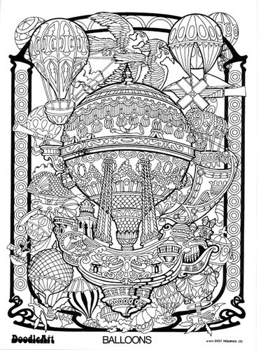 doodle art gallery coloring pages   Image Gallery for Hot Air
