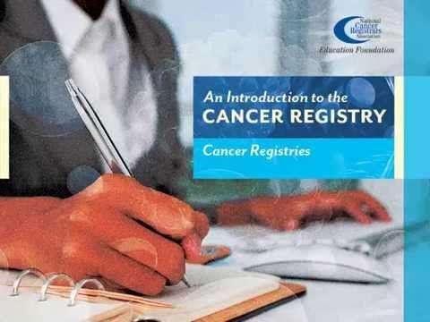 1 Intro to Cancer Registries - YouTube