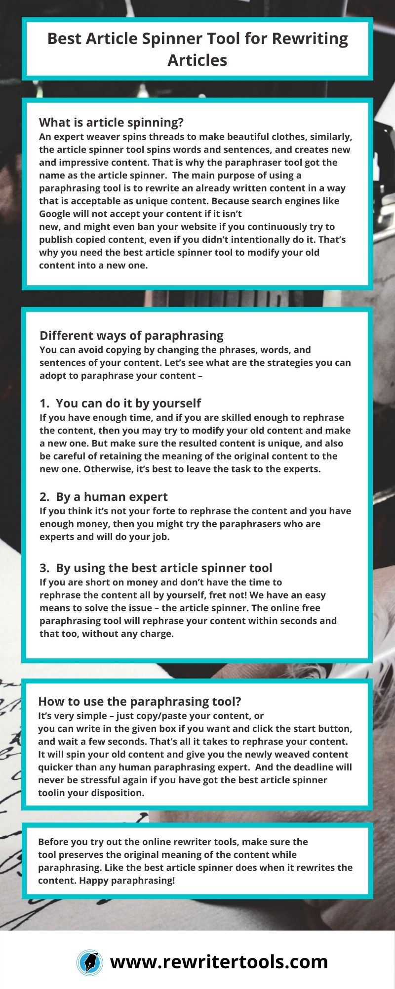 Best Article Spinner Tool for Rewording Articles in 2020