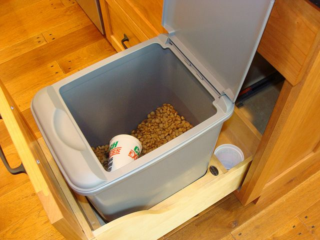 Pull Out Drawer For Dog Food Storage While This Would Be