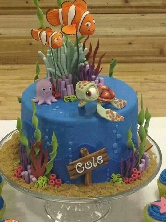 Cool Nemo Fish Birthday Cake Cakes For The Kiddos Pinterest - Nemo fish birthday cake