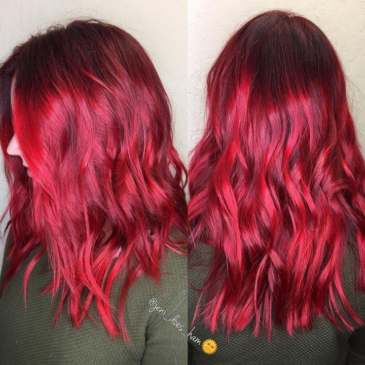 Here Are The Best Hair Color Trends Of 2016 Medium Hair Color Bright Red Hair Ombre Red Ombre Hair