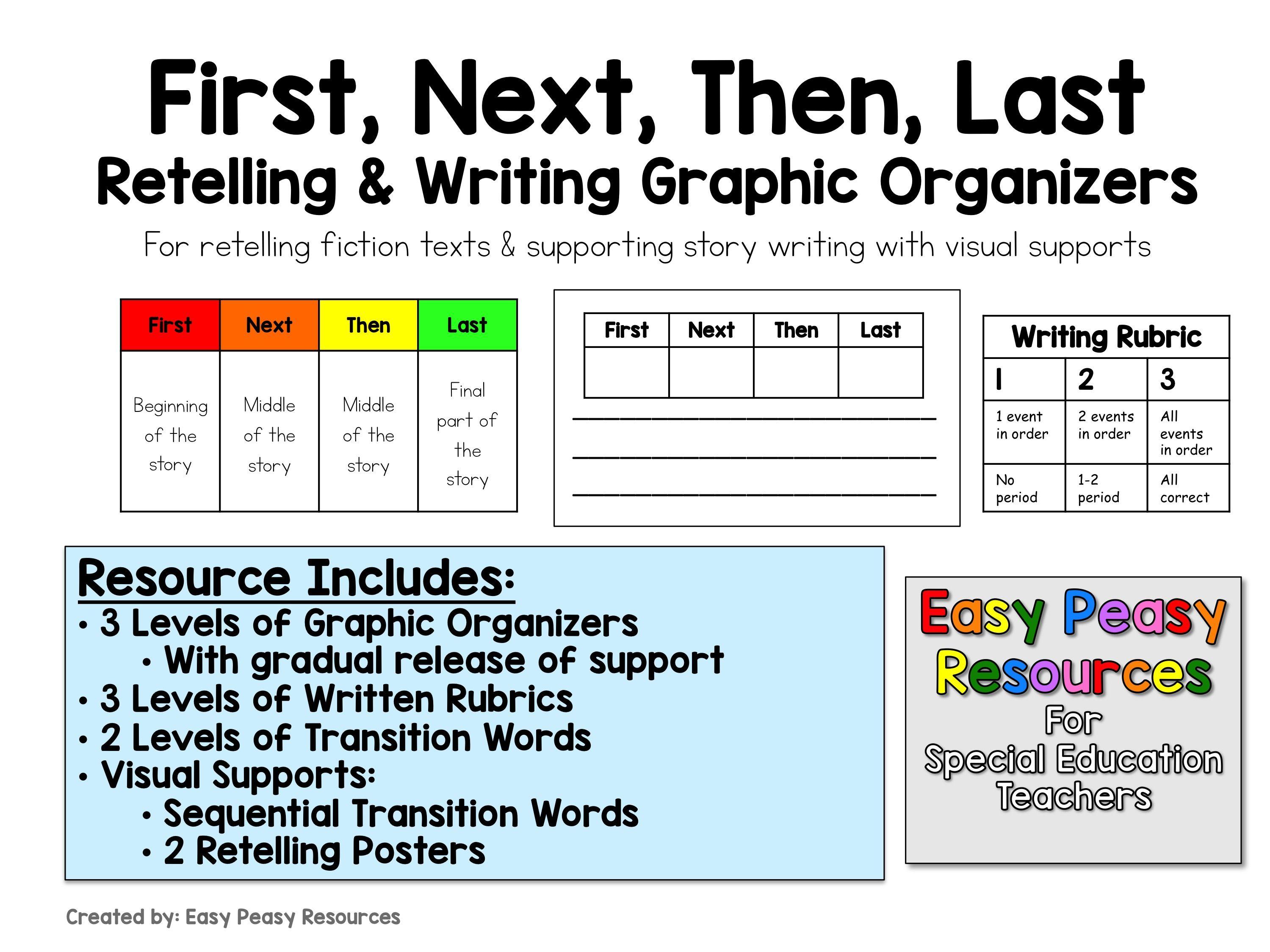 Fiction Retelling Amp Writing Graphic Organizers