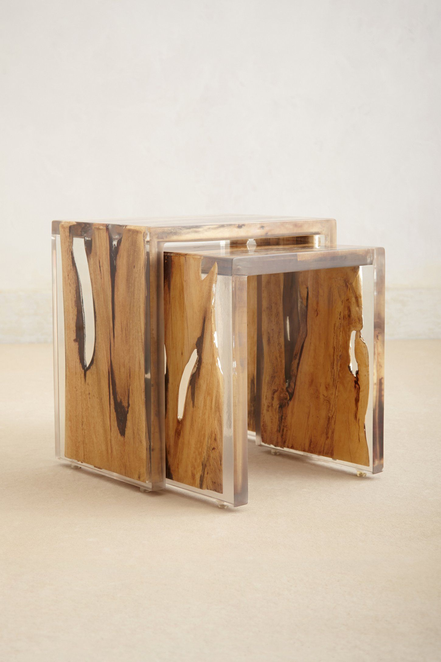 Lucite Lux® Nesting Tables The Intersection Of Nature And Acrylic Is  Beautiful