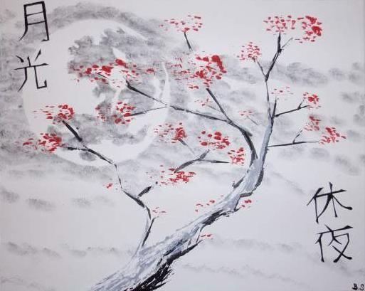 Pin by c line entelman on autour du japon cerisier japonais japon - Dessin arbre japonais ...