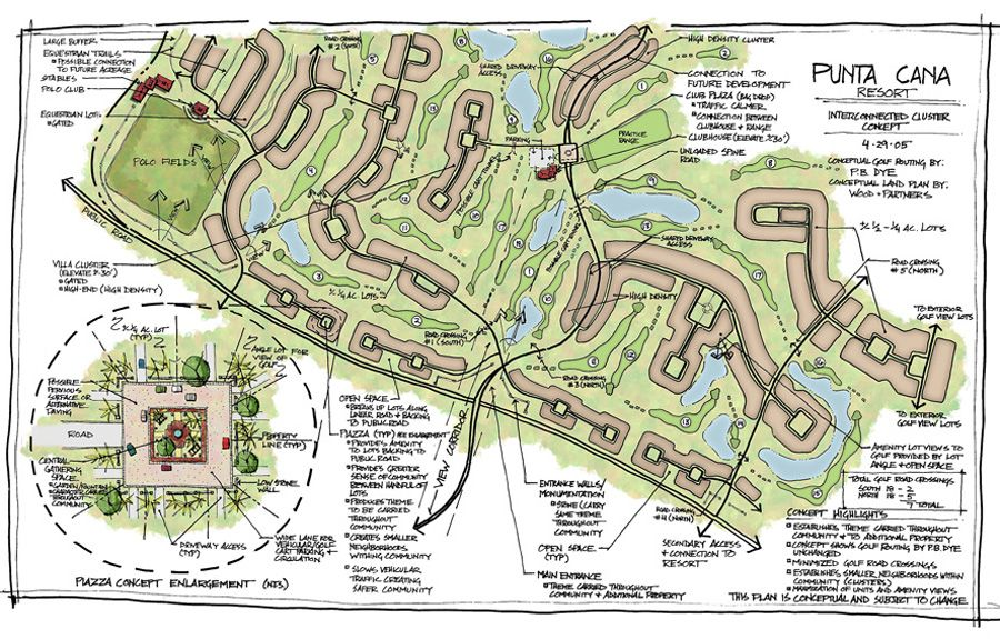 Punta Cana Dominican Republic Village Concept Master Plan Master