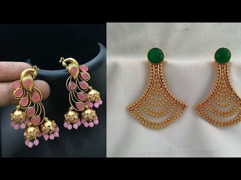 Beautiful Daily Wear Gold Earrings Designs New Design Ideas South Indian Jewellery