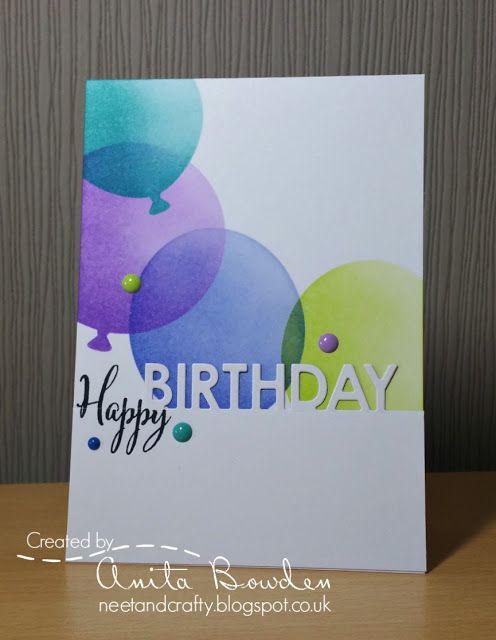 Neet Crafty Muse 182 Big Birthday Balloons Birthday Cards