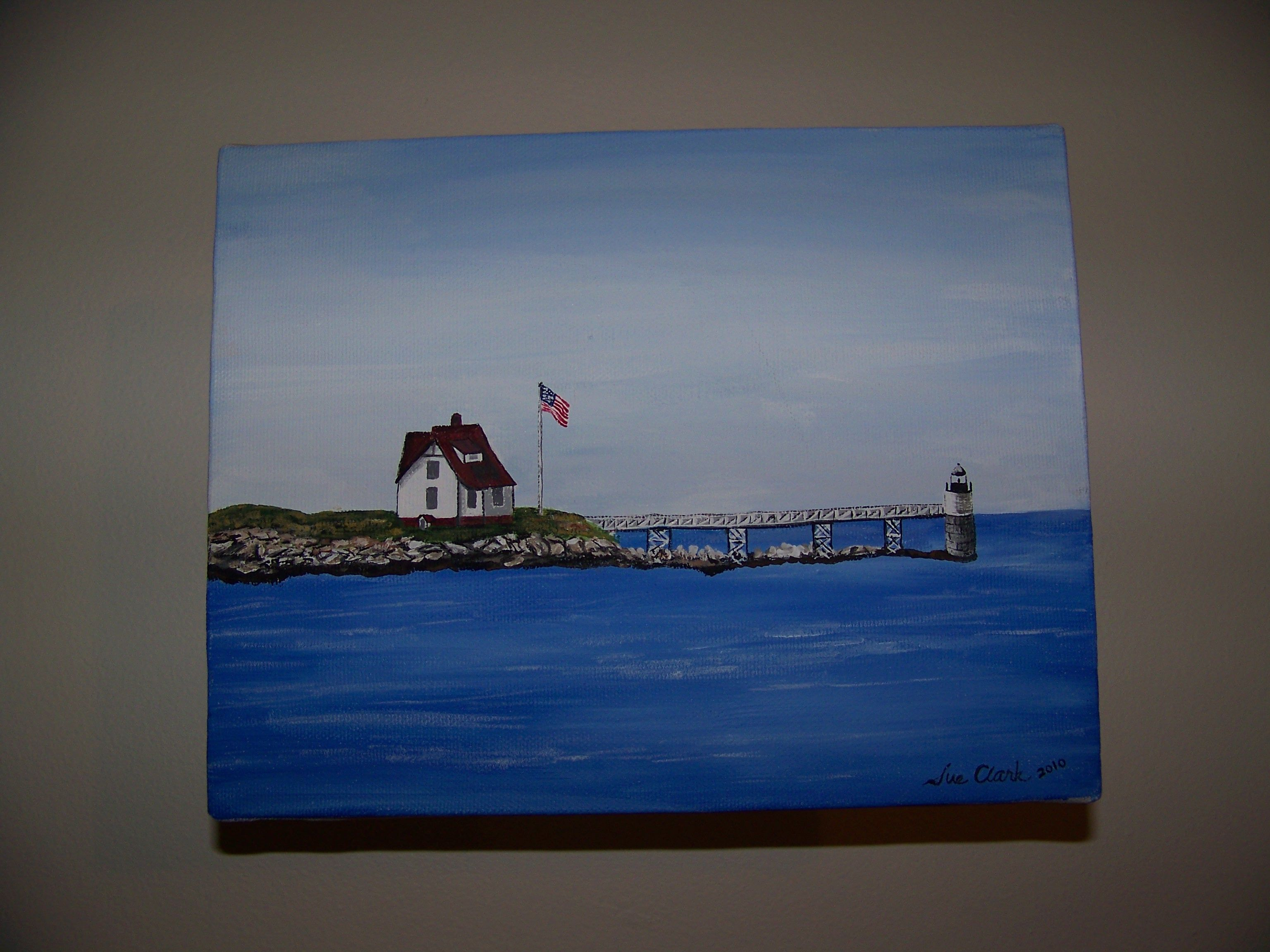 Ram Island Light Boothbay Maine Another Summer painting