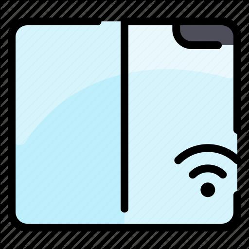 Fold Network Samsung Smartphone Wifi Wireless Icon Download On Iconfinder Wifi Smartphone Samsung