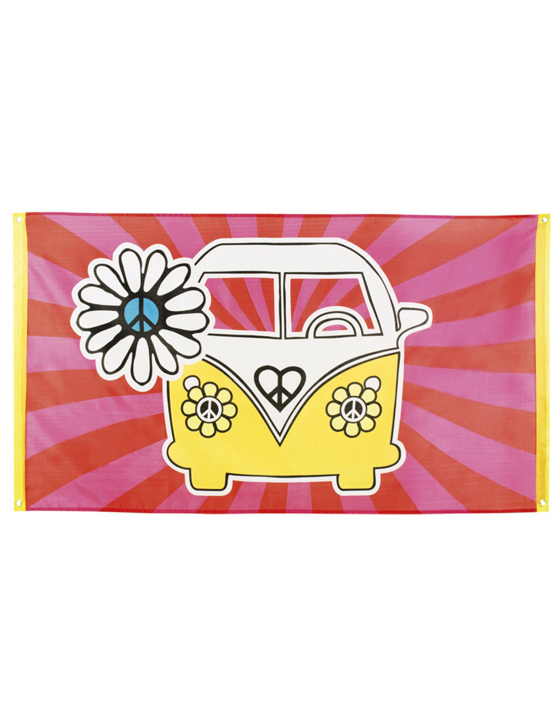 Bandiera Flower Power Hippie su VegaooParty, negozio di articoli per feste. Scopri il maggior catalogo di addobbi e decorazioni per feste del web, sempre al miglior prezzo!