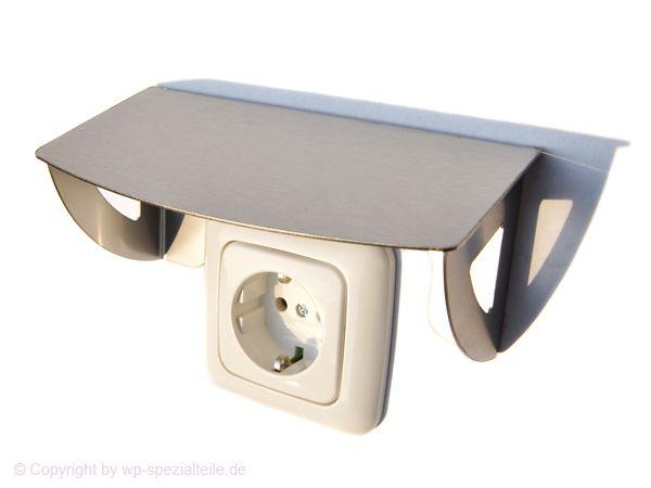 schutzdach f r 1 steckdose spritzschutz abdeckung. Black Bedroom Furniture Sets. Home Design Ideas