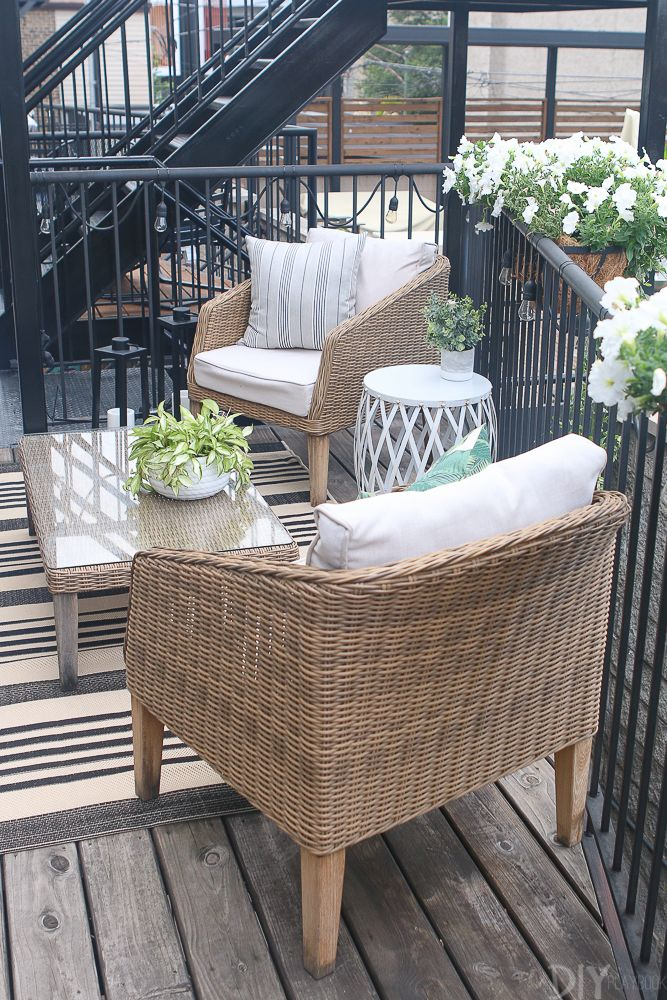 Casey's City Patio Space Gets a Mini Refresh This Summer #outdoorbalcony