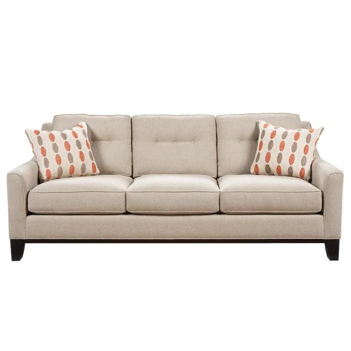 Nebraska Furniture Mart U2013 HM Richards Transitional Sofa With Button Tufted  Back And Wood Legs