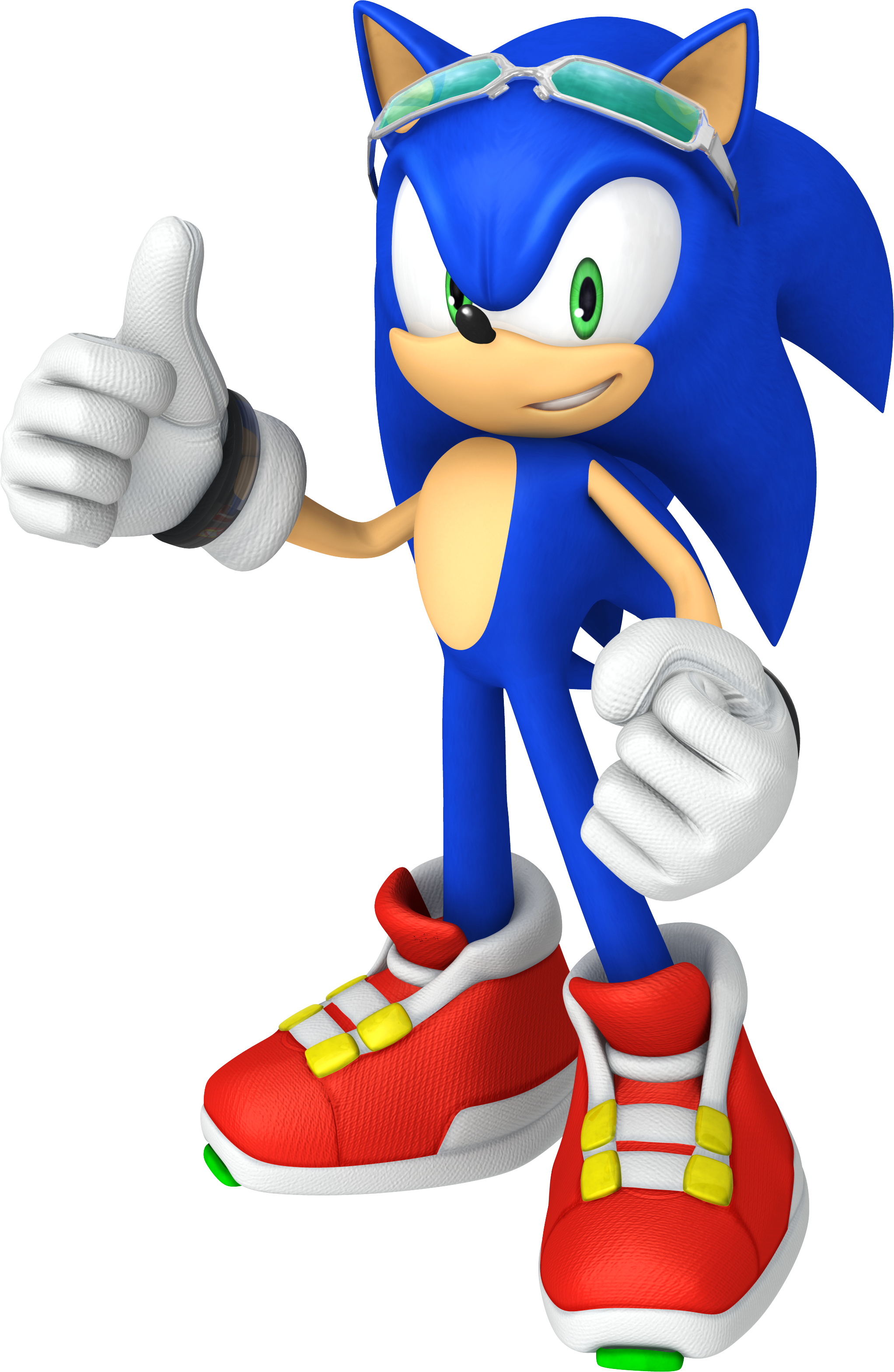 3D Sonic the Hedgehog 'Free Rider' thumbs up.. SONiC