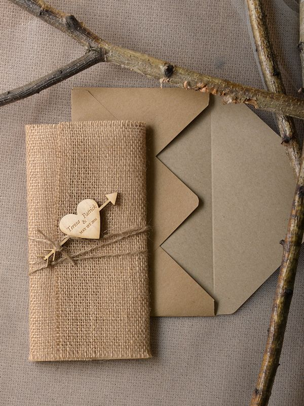 capture their attention with these real wood invitations from