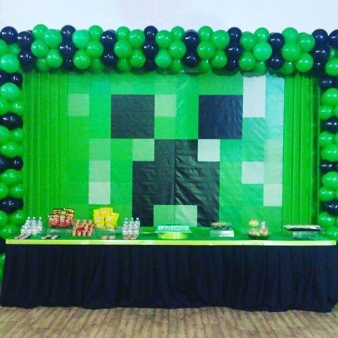 Resultado De Imagen Para Decoracion Minecraft Cumpleaños