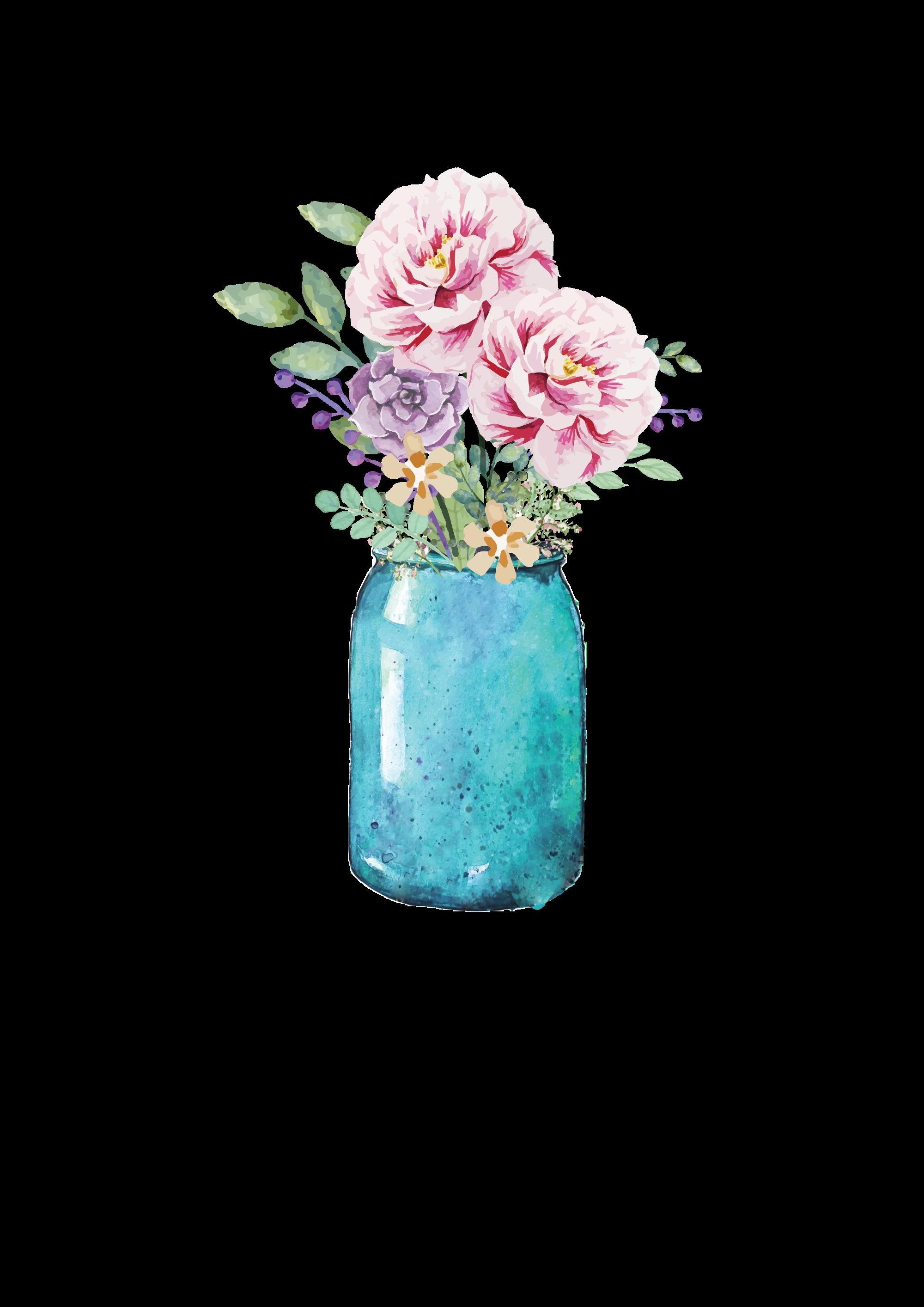 lauren baxter flowers in a mason jar wallpaper. Black Bedroom Furniture Sets. Home Design Ideas