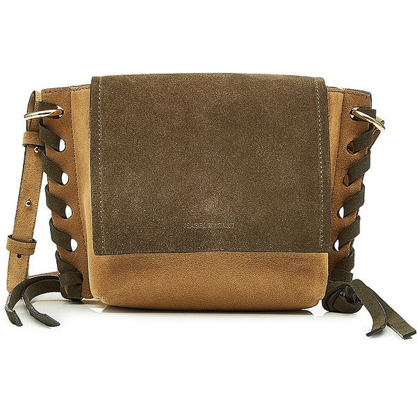 Isabel Marant Kleny Suede Shoulder Bag 685 Liked On Polyvore Featuring Bags Handbags Green Brown
